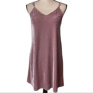 4Sienna Spaghetti Strap Velvet Blush Dress Small